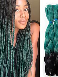 ombre Jumbo braiding hair extenison kanekalon fiber synthetic jumbo crochet braids two tones for Twist Braiding Hair 100g 24inch jumbo braids hair3pc