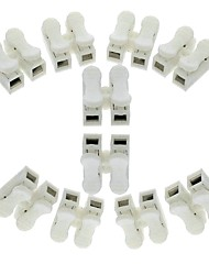 cheap -10pcs 2p Spring Connector wire with no welding no screws Quick Connector cable clamp Terminal Block 2 Way Easy Fit for led strip