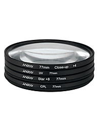 Andoer 77mm uv cpl close-up4 Stern 8-Punkt Filter Kreisfilter Kit Zirkular Polarisator Filter Makro Nahaufnahme Stern 8-Punkt-Filter mit