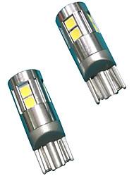 Volles Aluminiummaterial 5w Objektiventwurf t10 can-bus führte Birne weiße Farbe (2pcs)