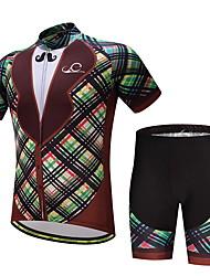 economico -Maglia con pantaloncini da ciclismo Per uomo Bicicletta Set di vestiti Ventilazione Asciugatura rapida Tasca posteriore Primavera/Autunno