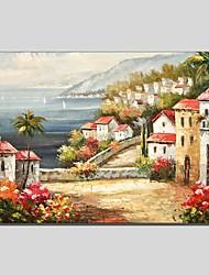 Pintados à mão Paisagem Abstracto 1 Painel Tela Pintura a Óleo For Decoração para casa