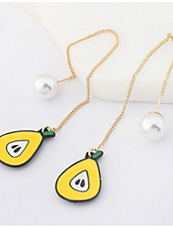 Drop Earrings Women's Personalized Long Adorable Simulation of Pears Daily Party Daily Graduation Gift Movie Jewelry