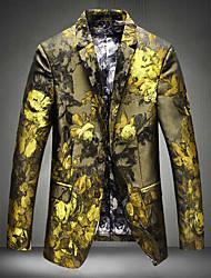 Giubbino Da uomo Feste Da sera Casual Cappotti/giacche Fantastico Autunno Inverno,Fantasia floreale Bavero classico Rayon StandardManica