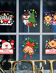 Window Film Window Decals Style Merry Christmas PVC Window Film