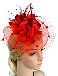 cheap -Plastic Fascinators Flowers Headpiece Classical Feminine Style