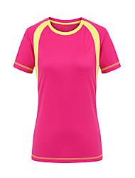 baratos -Mulheres Camiseta de Trilha Ao ar livre Secagem Rápida Resistente Raios Ultravioleta Vestível Camiseta Blusas Acampar e Caminhar Caça