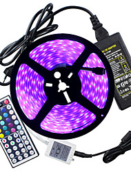 HKV® Waterproof IP67 Strip Light RGB 5 Meters 300LED 5050SMD 44kyes Remote Controller5A Power Adapter AC 100-240V