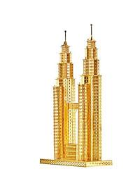 baratos -Quebra-Cabeças 3D Quebra-Cabeça Quebra-Cabeças de Metal Brinquedos de Montar Construções Famosas Arquitetura 3D Faça Você Mesmo Alumínio