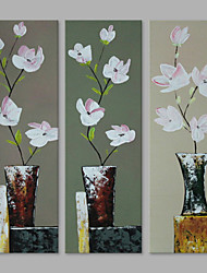 cheap -IARTS® Hand Painted Modern Abstract Petty Bouquets in the Vase on Canvas with Stretched Frame Handmade Oil Painting For Home Decoration Ready To Hang