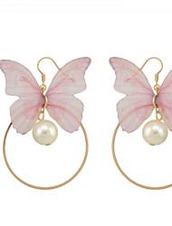 Drop Earrings Women's Bohemian New Fashion Owl  Feather Drop Earrings Statement Earring Party Jewelry