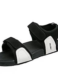 preiswerte -Herrn Schuhe PU Frühling Sommer Komfort Sandalen für Normal Weiß Schwarz Rot