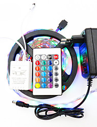 cheap -5m Light Sets / RGB Strip Lights 300 LEDs 3528 SMD 1 24Keys Remote Controller / 1 x 12V 2A Adapter RGB Cuttable / Waterproof / Decorative 12 V 1set / IP65 / Self-adhesive