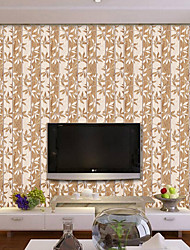 cheap -Botanical Wood Grain Art Deco Wallpaper For Home Modern Wall Covering  PVC/Vinyl Material Self adhesive Wallpaper  Room Wallcovering