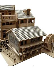 abordables -Puzzles 3D Puzzle Modelo de madera Juguetes Edificio Famoso Arquitectura China Arquitectura 3D Manualidades Simulación Madera No