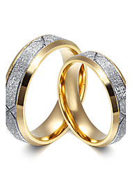 preiswerte -Paar Eheringe Kubikzirkonia Silber Kubikzirkonia Titanstahl Kreisförmig Elegant Simple Style Hochzeit Jahrestag Party Verlobung Alltag