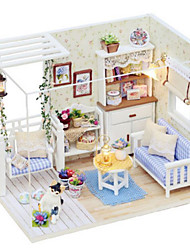 cheap -Doll House Toys DIY Duck Famous buildings House Architecture Plastics Pieces Not Specified Birthday Gift