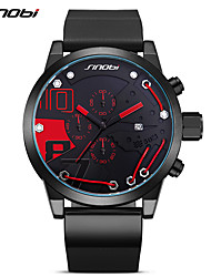 SINOBI Men's Sport Watch Fashion Watch Wrist watch Japanese Quartz Calendar Chronograph Shock Resistant Large Dial PU BandUnique Creative 9728G01