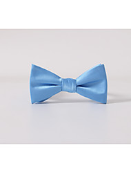 cheap -Men's Polyester Bow Tie,Solid Casual Solid All Seasons Light Blue