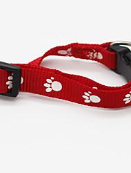 Gato Cachorro Colarinho Sem Fio Geometria Náilon Vermelho