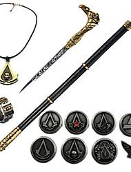 Inspireret af Snigmorder Ezio Anime Cosplay Tilbehør Halskæde Broche Ringetone Type PVC Krom