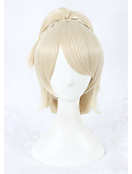 cheap -Cosplay Wiig Final Fantasy XV Lunafreya Nox Fleuret Wig 14inch Short Beige Ponytail Anime Hair Wig