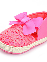 Baby Flats Comfort Fabric Spring Fall Wedding Casual Outdoor Party & Evening Comfort Bowknot Flat Heel Fuchsia Flat