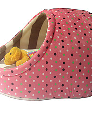 Недорогие -Собака Кровати Животные Коврики и подушки В горошек Теплый Желтый Кофейный Розовый Синий Розовый