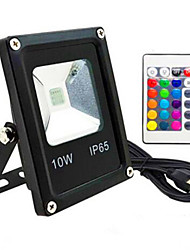 cheap -AC85-265V IP65 Waterproof 10W Remote Control Color RGB Colorful Outdoor Light LED Floodlight 1Pc