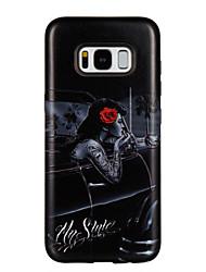 Недорогие -Кейс для Назначение SSamsung Galaxy S8 Plus S8 Защита от удара С узором Кейс на заднюю панель Слова / выражения Соблазнительная девушка