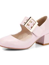 Women's Heels Basic Pump Spring Summer Synthetic Microfiber PU Polyamide fabric Wedding Dress Party & Evening Office & Career Buckle