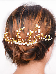 cheap -Europe and the United States foreign trade fashion hair accessories Contracted joker wedding party Comb hair female A0081 quietly elegant pearl crysta