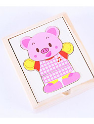 cheap -Building Blocks Jigsaw Puzzle Toys Square Bear Children's Pieces