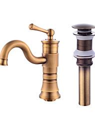 cheap -Centerset Ceramic Valve One Hole Antique Copper, Faucet Set