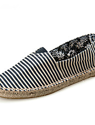 cheap -Unisex Loafers & Slip-Ons Moccasin Espadrilles Light Soles Summer Fall Canvas Cotton Casual Party & Evening Office & Career Gore Flat Heel