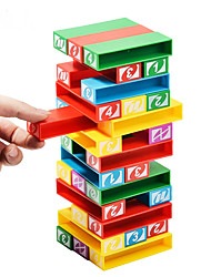 abordables -Blocs de Construction Jeux d'Empilage Tour à Empiler Jouets Equilibre Plastique Enfant Pièces