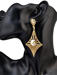 Women's Drop Earrings Rhinestone Dangling Style Pendant Rhinestones Friendship Chrismas Personalized Classic Hip-Hop Elegant Oversized