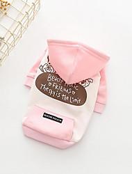 preiswerte -Hund Kapuzenshirts Hundekleidung Atmungsaktiv Lässig/Alltäglich Buchstabe & Nummer Gelb Rosa Kostüm Für Haustiere