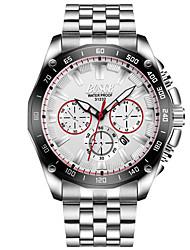 Men's Dress Watch Fashion Watch Quartz Stainless Steel Band Casual Silver
