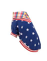 Perro Camiseta Ropa para Perro Casual/Diario Estrellas Azul Disfraz Para mascotas