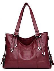 preiswerte -Damen Taschen PU Umhängetasche für Normal Herbst Ganzjährig Schwarz Rote Grau Purpur