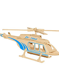 cheap -3D Puzzles Metal Puzzles Wood Model Model Building Kit Helicopter DIY Natural Wood Classic Unisex Gift