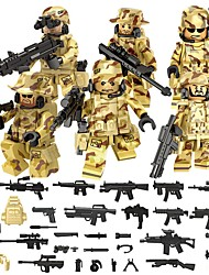 cheap -DILONG Building Blocks / Block Minifigures / Educational Toy 106 pcs Military / Warrior Unisex Gift