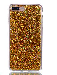 Недорогие -Назначение iPhone X iPhone 8 Чехлы панели Полупрозрачный Задняя крышка Кейс для Сияние и блеск Твердый Акриловое волокно для Apple iPhone