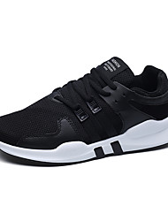Недорогие -Муж. обувь Тюль Весна Осень Удобная обувь Кеды для Атлетический Повседневные на открытом воздухе Белый Черный Черно-белый