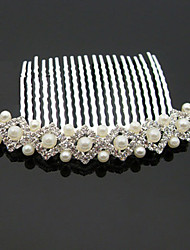 cheap -Imitation Pearl Rhinestone Alloy Hair Combs 1 Wedding Special Occasion Halloween Anniversary Birthday New Baby Housewarming
