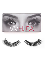 VVHUDA LASHES False Eyelashes Mink Eyes Lash 3D Black Natural Fibers Easy Elegance Makeup Beauty Tool Jade