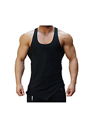 Men's Gym Tank Top Breathability Stretchy Comfortable Casual/Daily Tank Top for Running/Jogging Exercise & Fitness Cotton Slim White Black