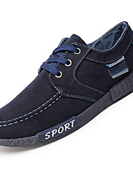 Men's Sneakers Comfort Light Soles Tulle Spring Summer Fall Athletic Casual Outdoor Lace-up Low Heel Black Navy Blue Dark Grey Under 1in