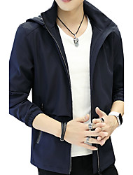 Veste Homme,Couleur Pleine Mode Lettre et chiffreAutre Quotidien Décontracté Vêtements de Plein Air Vêtements d'entreprise Sortie
